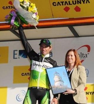 Michael Albasini  gana de nuevo al Spint la 2da etapa de la Vuelta a Catalunya