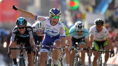 Francés Julien Simon (Saur) gana al sprint la quinta etapa de la Vuelta a Catalunya