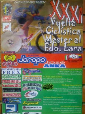 Willian Paredes gano la 1ra Etapa de la XXXI Vuelta master a Lara