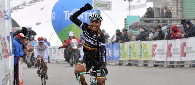 Italiano Pozzovivo gana el Giro del Trentino, y el colombiano Atapuma la última etapa