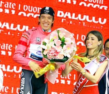 Colombiano Rigoberto Urán ganó la Crono  y es nuevo líder del Giro/ Clasificaciones