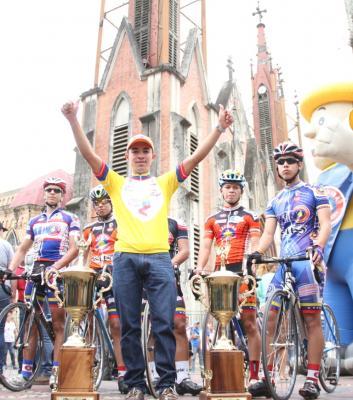 Junín recibe al campeón de la Vuelta a Venezuela Jonathan Salinas