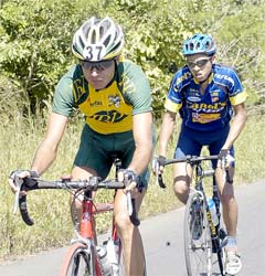 Equipo IBP Pensiones-Banco Banex-Interfin-Bicicletas Trek arma trabuco para Vuelta a Costa Rica