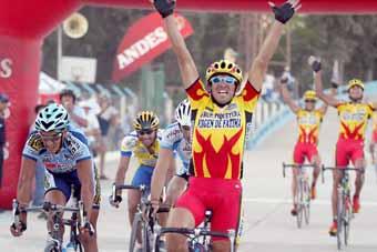 Juan Capdevilla gana la I etapa de  XXV Vuelta a San Juan