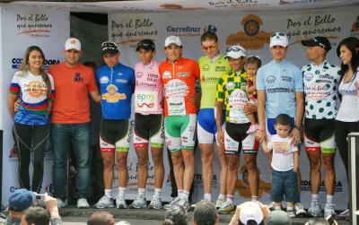 Español Oscar Sevilla Campeon de la Vuelta Nacional Marco Fidel Suárez.