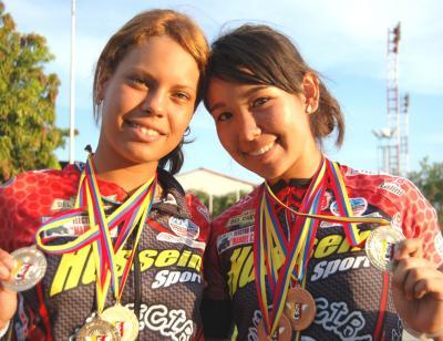 Jennifer Flores y Gusmelys Sánchez a la preselección nacional del ciclismo