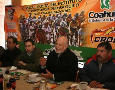 Del 11 al 13 de Febrero se correra en Mexico la Vuelta  Ciclista del Instituto Universitario Tecnológico de los Trabajadores