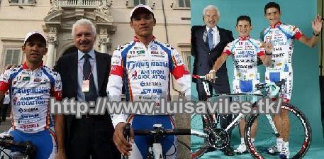 Cuatro venezolanos en equipo Androni Giocattoli