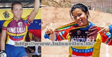 Ciclista Stefany Hernández y  Angie Gonzales Beneficiadas por el COV