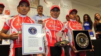 "La ""I Vuelta Internacional de Ruta de la Alpaca"" Gana Récord Guinness, como  la prueba ciclística de ruta más alta del mundo"