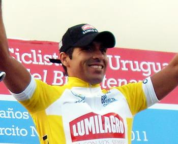 Argentino Darío Díaz, repite en la 2da Etapa de la  68 Vuelta Ciclista de Uruguay