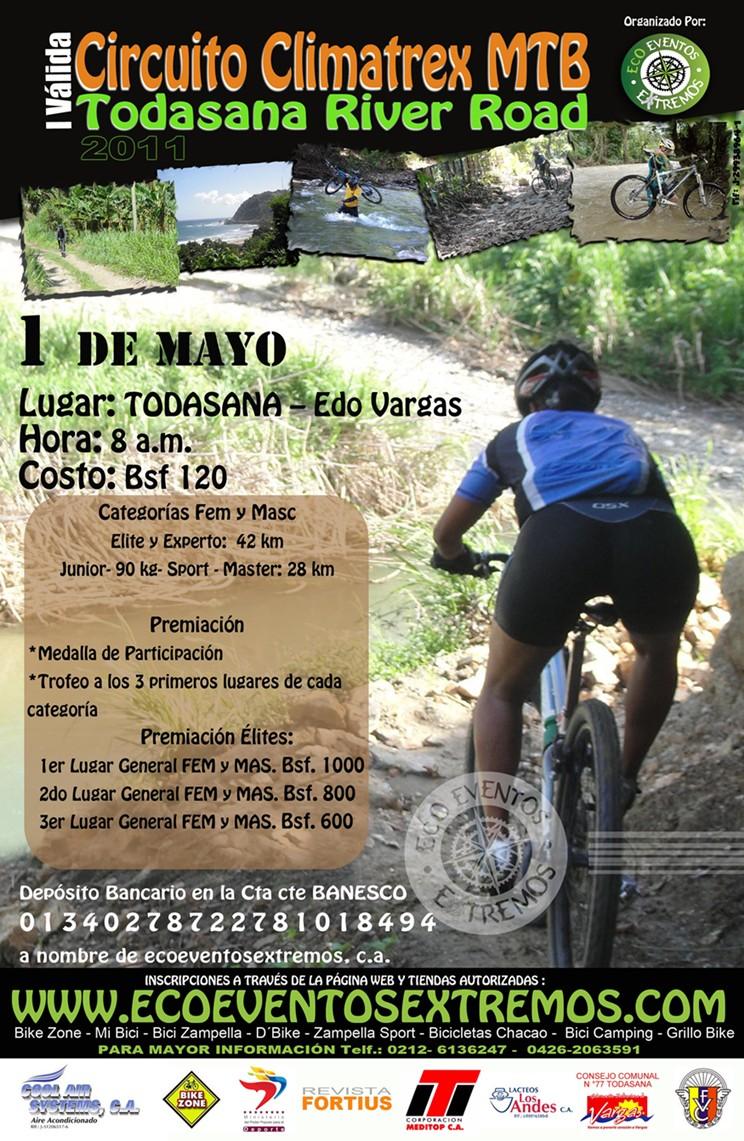 El 1ro de Mayo se correra en el Estado Vargas la I Valida Circuito Climatrex MTB 2011