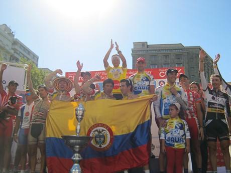 Iván Mauricio Casas de Boyacá Orgullo de América se coronó campeón de la  68  Vuelta Ciclista del Uruguay