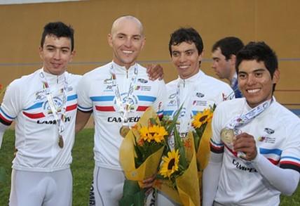 Colombia sumó tres medallas de oro y lidera el Panamericano de pista en Medellín