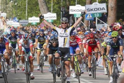 Mark Cavendish gana la 10ma etapa del Giro y Contador sigue Lider