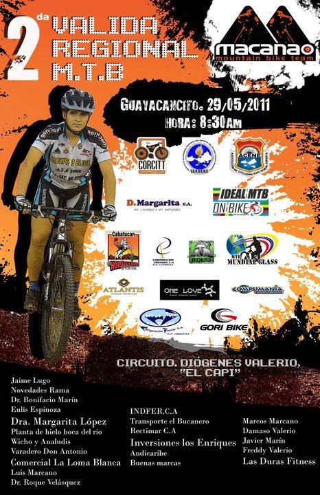 Todo listo para 2da Valida Regional de MTB Campeonato 2011 en Margarita
