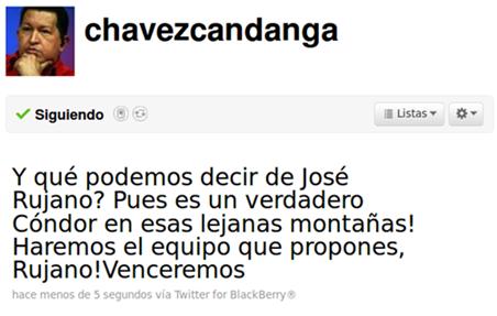 Presidente Chavez promete hacer Equipo Profesional Venezolano
