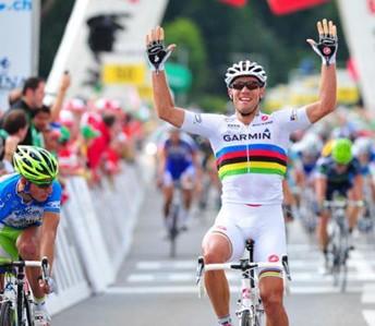 Noruego Thor Hushovd, Garmin Cervelo gana la 4ta Etapa del Tour de Suiza