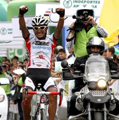 Juan Alejandro García de GW Shimano, ganó la 3ra etapa de la Vuelta a Colombia