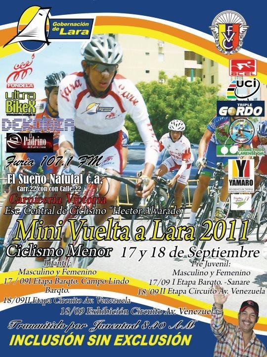 Todo Listo para la Minivuelta Ciclista al Estado Lara 17 y 18 de Septiembre
