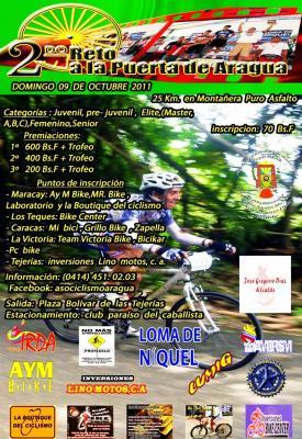 Todo listo para el 2º Reto a la puerta de Aragua MTB, el 09 de octubre