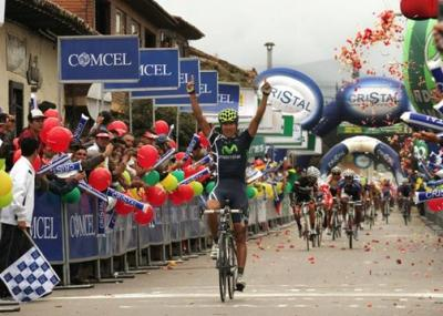 Marvin Angarita Movistar Team gana la 4ta Etapa del Clasico RCN y  Sergio L. Henao Sigue lider