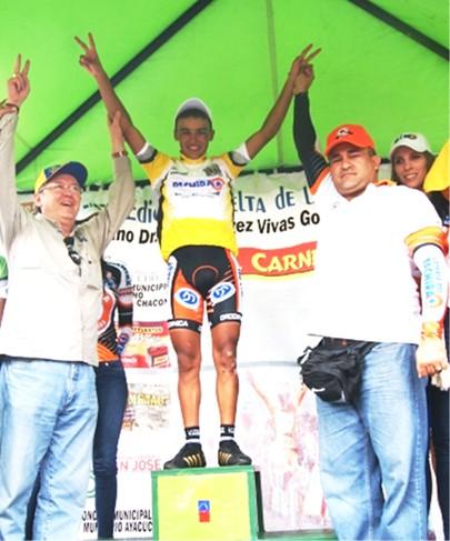 Luis Mora de la Lotería del Táchira Campeon de la Vuelta de la Juventud