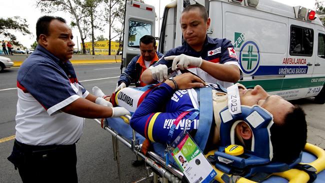 Arrollado ciclista Colombiano en Guadalajara
