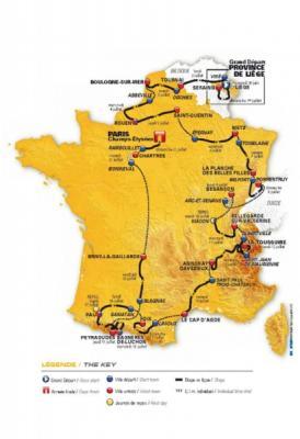 Presentado  Recorrido del Tour de Francia 2011