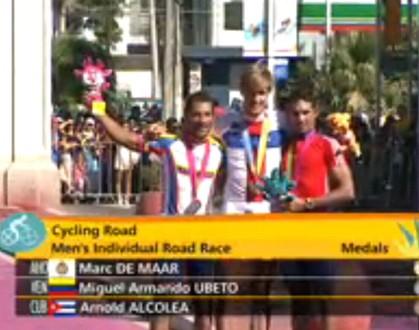 Antillano De Maar gana oro y venezolano Ubeto la plata en ciclismo de ruta