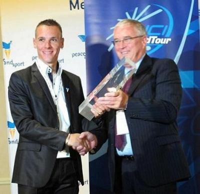 Ciclista belga Gilbert recoge el premio World Tour 2011