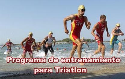 Programa de entrenamiento para Triatlon