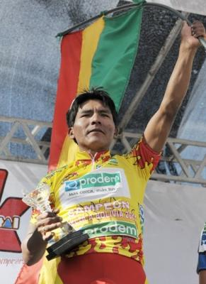 Juan Cotumba se proclamó  en La Paz campeón de la Vuelta a Bolivia