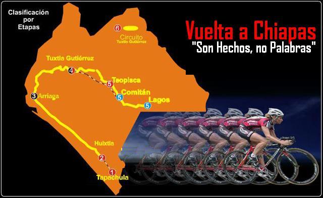 La Vuelta a Chiapas, con 22 equipos