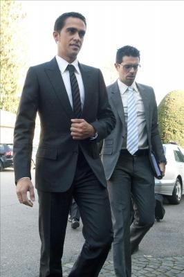 Alberto Contador comparece ante el Tribunal de Arbitraje Deportivo