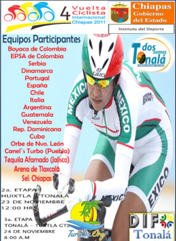 Clasificaciones 1ra etapa Vuelta a Chiapas 2011