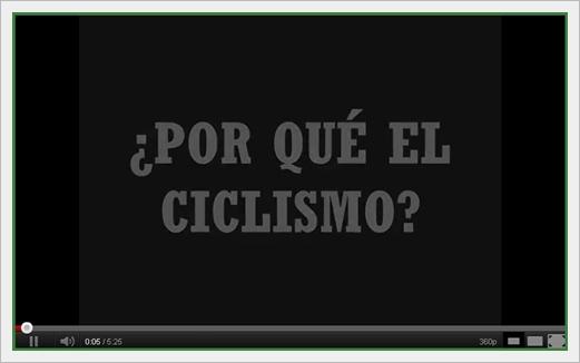 Video Porque el Ciclismo