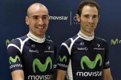 Movistar presenta a Cobo y Valverde