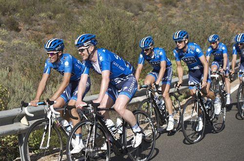 Contador inicia los entrenamientos con el resto del equipo Saxo Bank en Gran Canaria