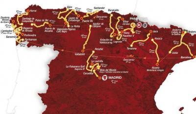 Recorrido Oficial Vuelta a España 2.012