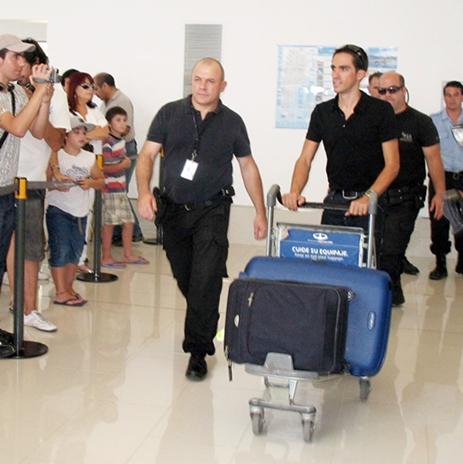 Contador, recibido a lo grande en Argentina