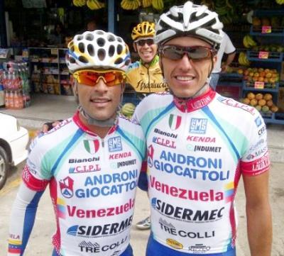 Venezolanos Mibule Ubeto y Tomas Gil ya lucen uniforme del Androni