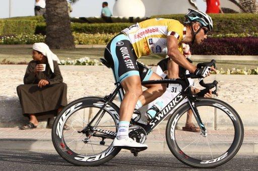Tom Boonen gana la cuarta etapa de la Vuelta a Catar y sigue líder