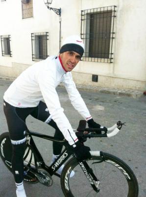 Alberto Contador  vuelve a los entrenamientos