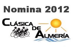 Nomina Oficial de la Clasica Almeria 2012