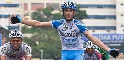 italiano Marco Canola del equipo Colnago CSF Bardini gana la 7ma etapa del Tour de Langkawi y Jose Serpa sigue Lider