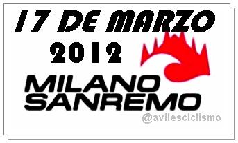 Nomina de Equipos y Corredores de la Clasica Milan San Remo