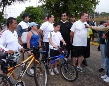 "Gobernador del Tachira Cesar Pérez Vivas inauguró el primer día de ""Ciclopaseo"""