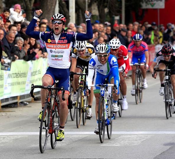 Andrea Palini (Team Idea) gano la 1ra etapa de la  Semana Coppi e Bartali