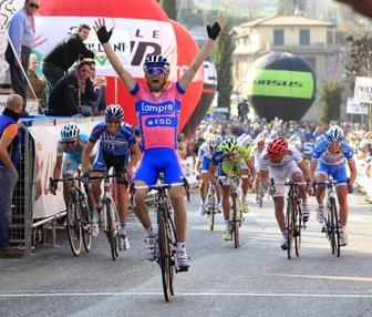 Italiano Diego Ulissi gana la 3ra Etapa de la Coppi y Bartali